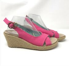 Crocs Ladies Wedge Pink Sandals Sling Back Size UK 5 EU 38  US 7