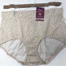 Olga Size 9 2XL No Muffin Top Microfiber Brief Panties Underwear 3 Pair New