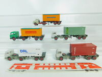 BO675-0,5# 5x Wiking H0/1:87  Container-Sattelzug MB: Clou+Danzas+CTI etc, NEUW