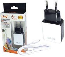 CARICABATTERIA DA RETE USB + CAVO MICRO USB 15w 3A ALIMENTATORE DA VIAGGIO