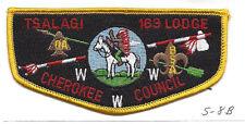 OA Lodge Tsalagi S8b Flap BLK Backstitch Cherokee Council Merged 1994 [Y763]