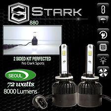 Seoul LED CSP 72W 8000LM Kit 6000K 6K White Fog Light Bulbs - 880 881 893 899