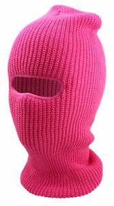 Beanie Cap Winter Unisex Ski Mask Face 1 Hole Sports Teen Ear Warmer Hat Neon