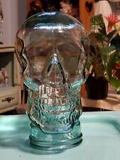 Heavy Thick Lifesize Glass Skull Skeleton Goth Gothic Halloween Head