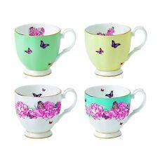 NIB $143 Royal Albert Miranda Kerr Vintage Mugs Set of 4 10.5 oz