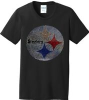 Women's Pittsburgh Steelers Football Ladies Bling Shirt T-Shirt (Size S-4XL)