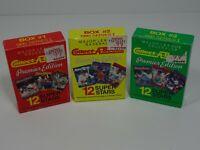 1990 Major League Baseball Collect-A-Books Premier Edition Series I Box 1, 2 & 3