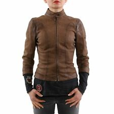 MATCHLESS Damen Sommer Leder Jacke PICCADILLY Antique Brown Gr. XXS