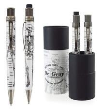 Retro 51 Tornado Dr. Gray Rollerball Pen Mechanical Pencil Set 1.15 mm VRS-1346