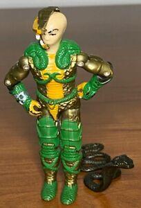 1986 Hasbro GI Joe Serpentor V1 Cobra Emperor Driver Action Figure with snake