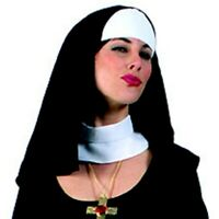 Nun Accessory Kit With Hat And Collar Deluxe Costume Accessories Nun Habit Set