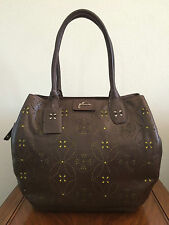 * Petunia Pickle Bottom Handbags Leather Brown Sepia Transatlantic Tote Purse
