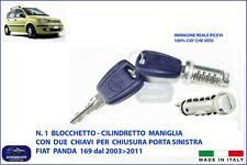 SERRATURA Maniglia con CILINDRETTO Porta Sportello SX  FIAT Panda 169 2003>2011