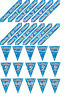 BLUE HOLOGRAPHIC FOIL HAPPY BIRTHDAY BANNERS & BUNTING  AGES 1 - 90