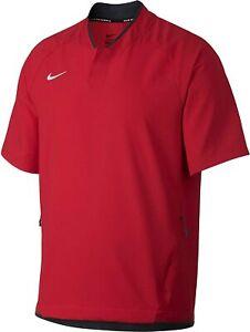 Nike Men's Pullover Short Sleeve Baseball Jacket Size Medium (Red) AH9610-657