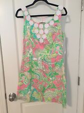 EUC Lilly Pulitzer Nina Shift Dress Chin Chin 6