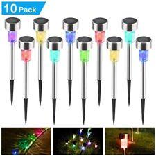10x LED Lampe solaire Pelouse Lampe De Jardin Imperméable Décoratif Lumière