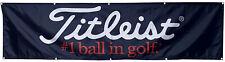 Titleist Flag Banner Golf Black 2x8ft banner US Shipper