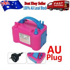 Electric Balloon Inflator Pump 2 Nozzle High Power Air Blower Portable AU Plug