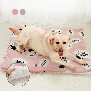 Winter Pet Cushion Large Dog Mat Warm Cat Printed Kitten Puppy Fleece Mattress