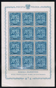 POLAND SCOTT#B49A MINT NEVER HINGED COMPLETE SHEET OF TWELVE