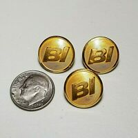 BRANIFF International Airlines BI Metal Uniform Buttons Vintage