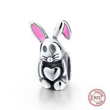 925 Alicia en el país de las maravillas Conejo Blanco de plata encanto grano Cumpleaños Regalo de San Valentín