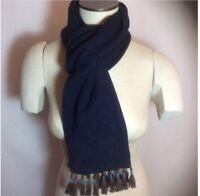 New Tagged J. Crew Navy Long Knit Tassel Scarf
