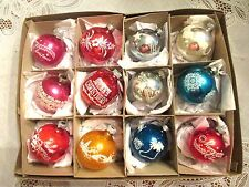 VINTAGE CHRISTMAS ORNAMENTS--STENCILS/STENCILING--CANDLE/MICA/BELLS/HEARTS/STARS