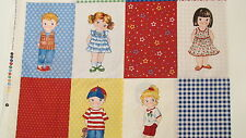 NewCastle cotton fabric paperdoll Paper DOll cheater 5x8 blocks and coordinates