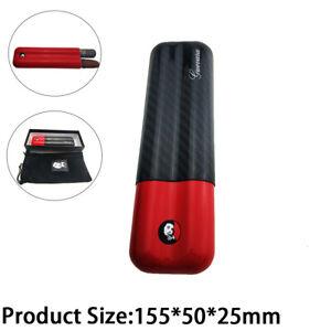 Cigar Humidor Case Carbon Fiber Cigar Holders Case Humidors 2 Tube Cigar Travel