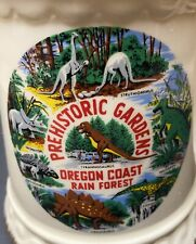 Prehistoric Gardens 1960s Ceramic Souvenir Mug Stein Dinosaur Park Oregon Coast