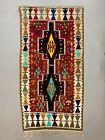 Small Vintage Turkish Kilim 180x93 cm Wool Kelim Rug Red Black Green Blue