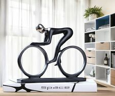 Modern Abstract Resin Bicycler Cyclist Statue Bike Racer Rider Figurine Decor