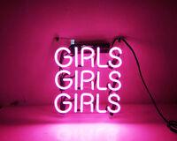 "10""x10""GIRLS GIRLS GIRLS Neon Sign Light Beer Bar Pub Home Room Wall Decor Gift"