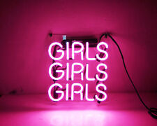 TN091 'GIRLS' Youth Baby Room Wall Display Decor Neon Light Sign LED 9x9 New