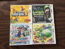 New Super Mario Bros 2 +Luigi's Mansion+Party Island Tour+Yoshi's New Island 3DS