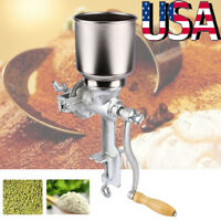 Grinder Corn Wheat Manual Hand Grains Oats Iron Nut Mill Crank Cast Coffee Food