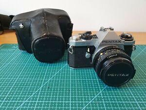 Pentax ME Super 35mm SLR Camera with SMC Pentax-A 50mm 1 ;1.7 Lens, Case, Manual
