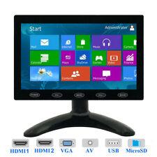 "Mini 10""/7"" LCD CCTV Monitor HD PC Screen HDMI VGA AV RCA 1080p for Raspberry Pi"