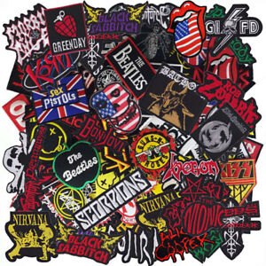 Iron On Patch Embroidered Wholesale Band Music Rock Heavy Metal Punk Rock n Roll