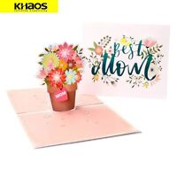 New 3D Pop Up Love Greeting Card Christmas Birthday Mother's Day - Best Mom