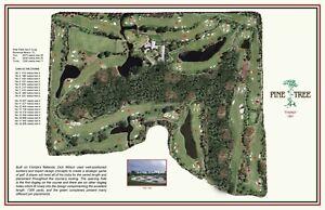 Pine Tree Golf Club - 1961 Dick Wilson Vintage Golf Course Map