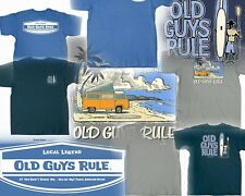 129193e0 3 OLD GUYS RULE SURF THEMED T-SHIRTS SURFBOARD FIN SIZE- XL YOU GET
