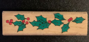 Rubber Stamp Holly Berry Border