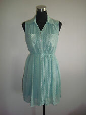 mint green polka korean sleeveless dress