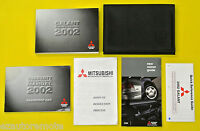 Galant Sedan 02 2002 Mitsubishi Owners Owner's Manual Set with Case All Models