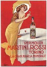 PUBBLICITA' 1914 MARTINI & ROSSI VINO VERMOUTH DONNA LIBERTY MODA TORINO NAVARRA