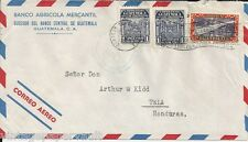 """1951 GUATEMALA  AIRMAIL COVER / """"ETERNAL SPRING"""" CANCEL"""