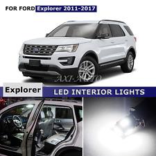 13x White Interior LED Lights Package Kit for 2011-2017 Ford Explorer + TOOL